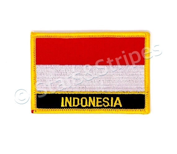 Indonesia Flag Embroidered Patch