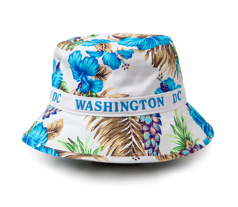 Washington DC Floral Bucket Hat (blue)