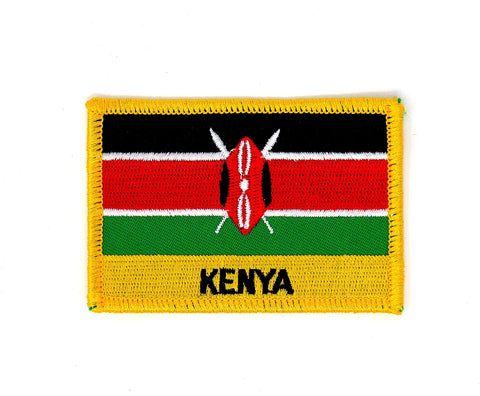 Kenya Flag Embroidered Patch