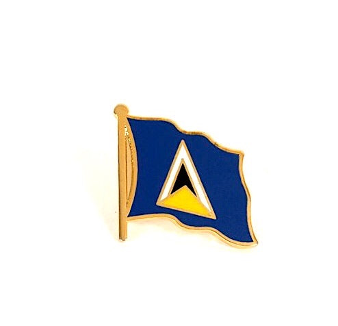 Saint Lucia Flag Lapel Pin