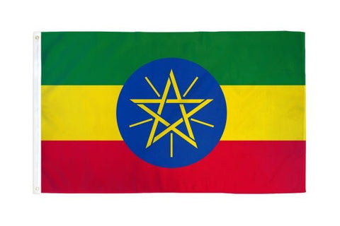 Ethiopia (Star) Flag 3x5ft