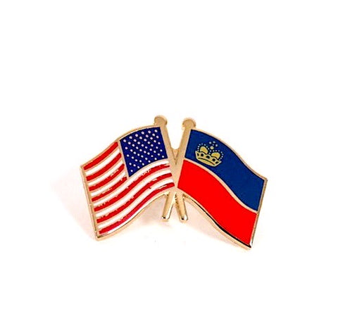 USA/ Liechtenstein Flag Lapel Pin