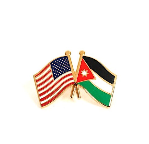 USA/ Jordan Flag Lapel Pin