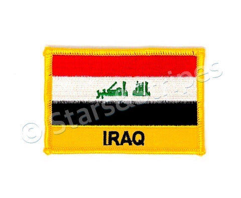 Iraq Flag Embroidered Patch
