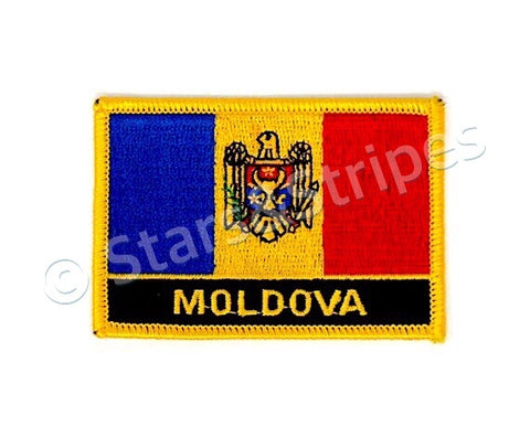 Moldova Flag Embroidered Patch