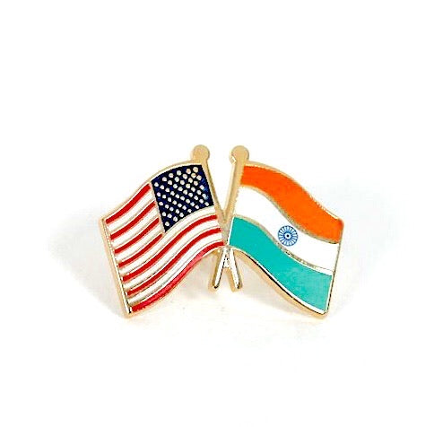 USA/India Flag Lapel Pin