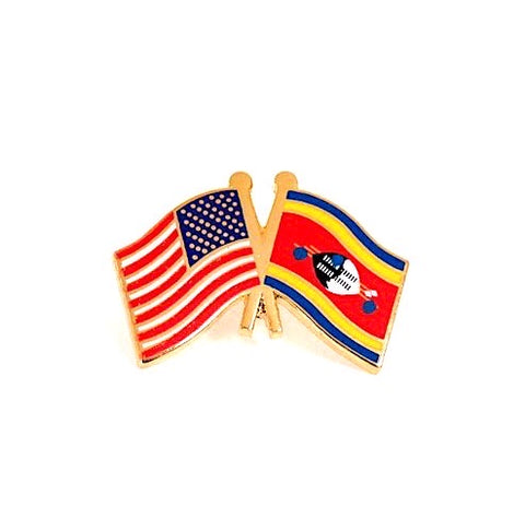 USA/Swaziland Flag Lapel Pin