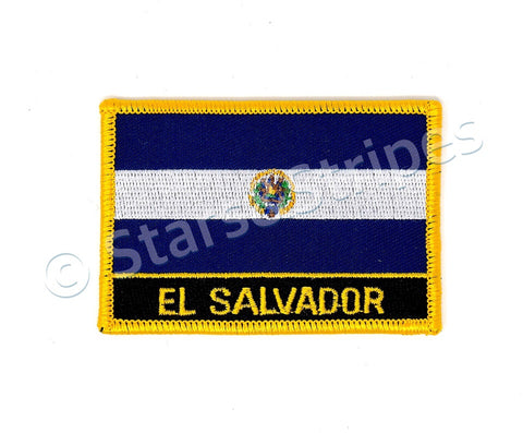 El Salvador Flag Embroidered Patch