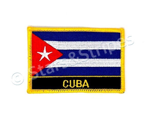 Cuba Flag Embroidered Patch