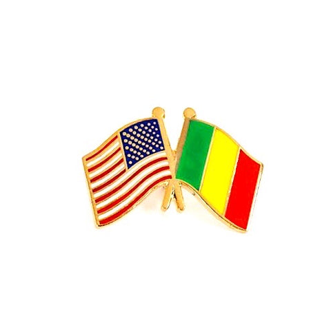 USA/Mali Flag Lapel Pin