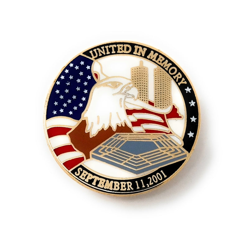 United in Memory September 11th, 2001 Collectable Lapel Pin