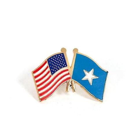 USA/Somalia Flag Lapel Pin