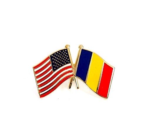 USA/Chad Flag Lapel Pin