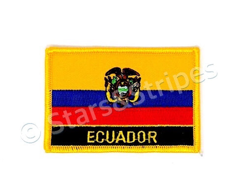 Ecuador Flag Embroidered Patch