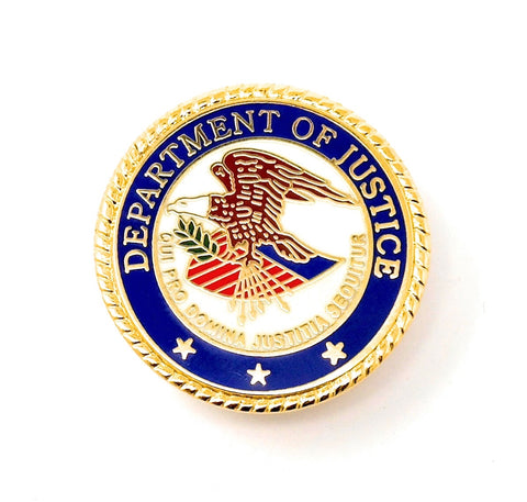 Department of Justice Lapel Pin