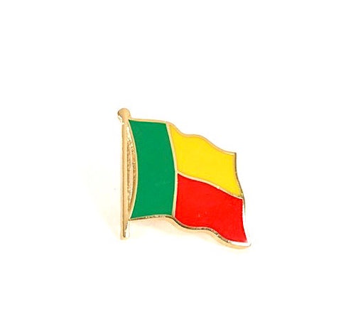 Benin Flag Lapel Pin