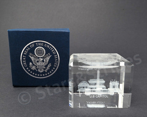 Washington DC Paperweight Crystal