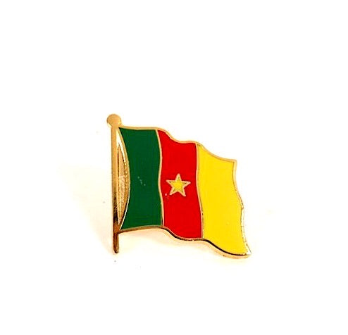 Cameroon Flag Lapel Pin