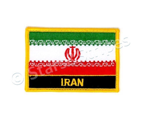 Iranian Flag Embroidered Patch