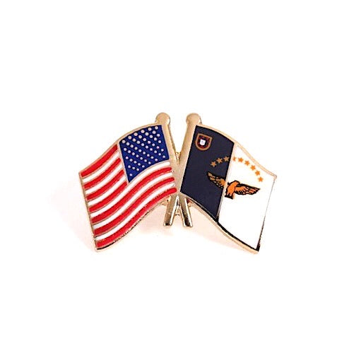 USA/Azores Flag Lapel Pin2