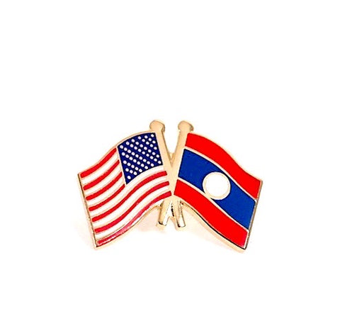 USA/Laos Flag Lapel Pin