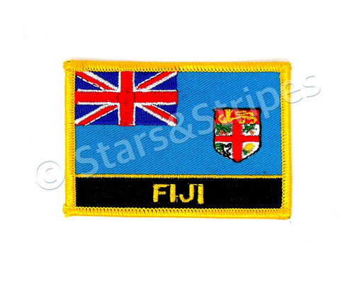 Fiji Flag Embroidered Patch