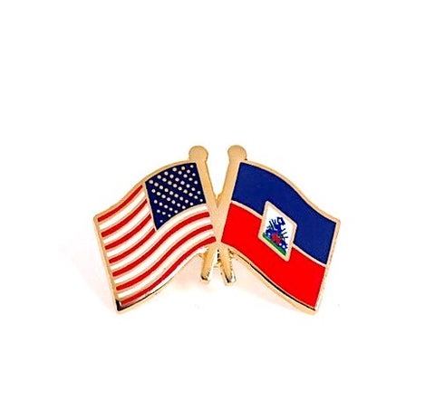 USA/Haiti Flag Lapel Pin