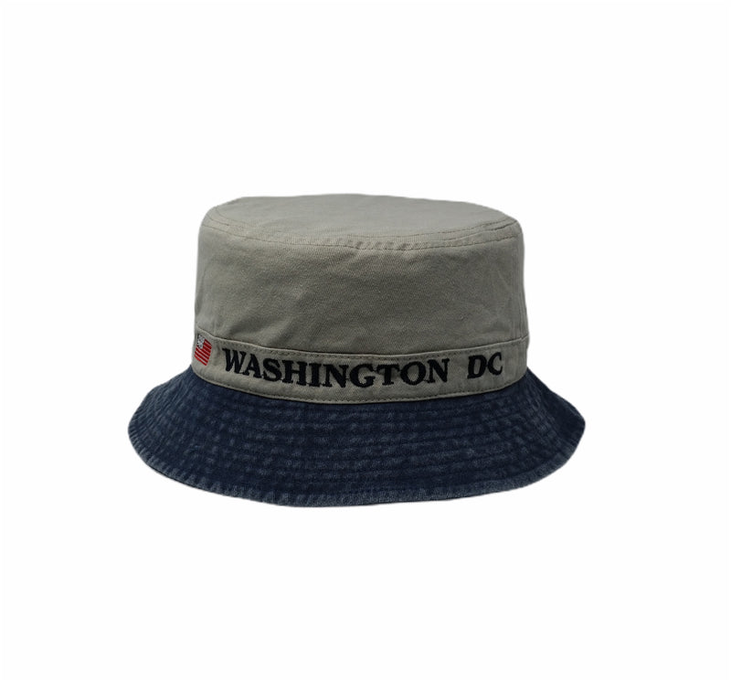Washington DC Bucket hat (Khaki and denim)