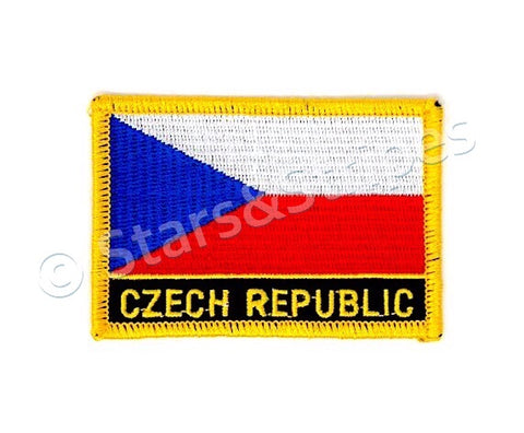 Czech Republic Flag Embroidered Patch