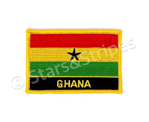Ghana Flag Embroidered Patch