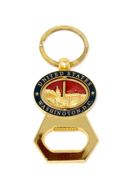 Washington DC Bottle Opener Keychain
