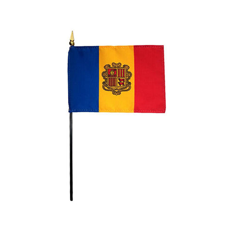 Andorra Stick Flag
