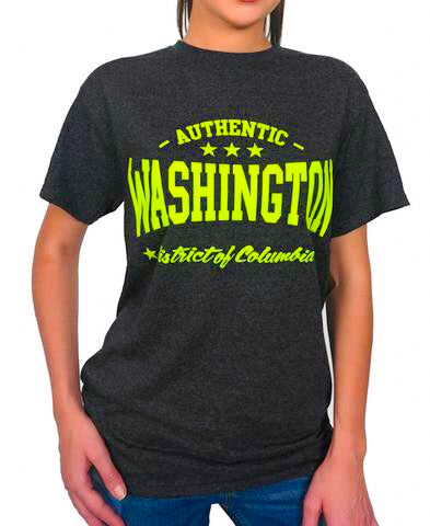 Authentic Washington DC Tee Shirt (neon green)