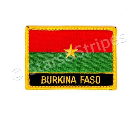 Burkina Faso Flag Embroidered Patch
