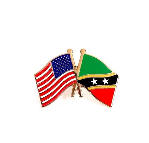 USA/ St. Kitts-Navis Flag Lapel Pin