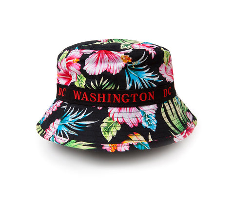 Washington DC Floral Bucket Hat (black)