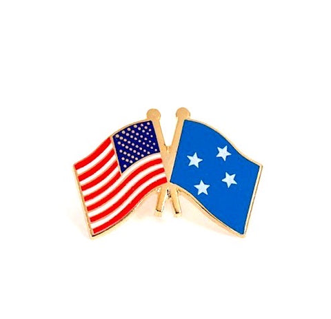 USA/Micronesia Flag Lapel Pin