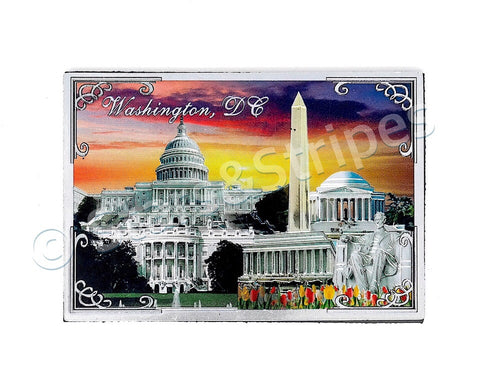 Washington DC Sunset Fridge Magnet