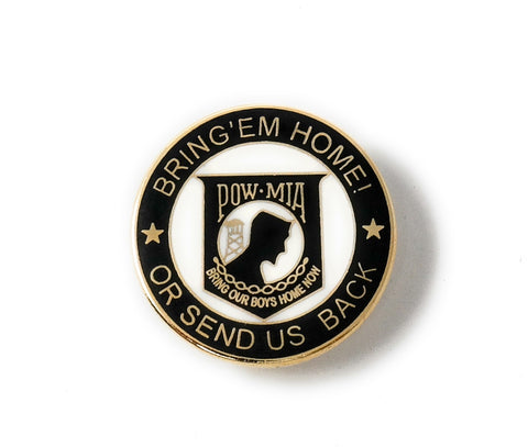 POW-MIA Collectable Lapel Pin Bring'em home or send us back""