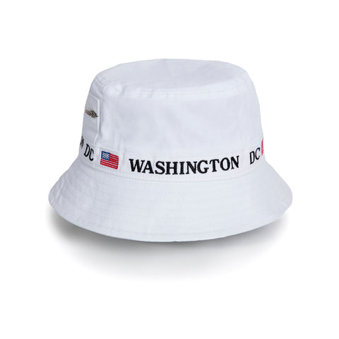 Washington DC Bucket hat (white)