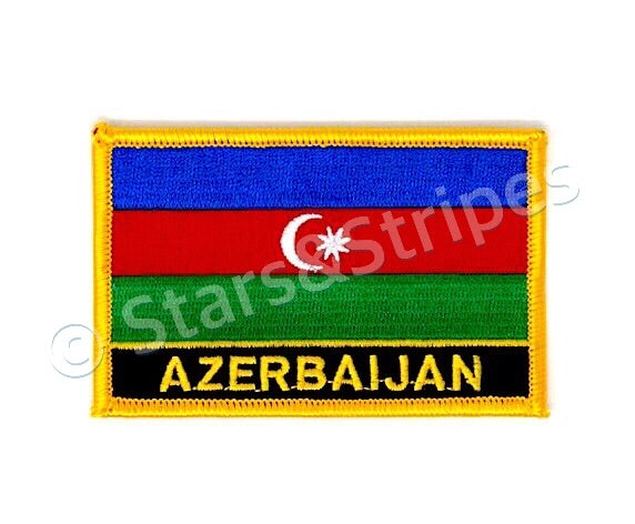 Azerbaijan Flag Embroidered Patch