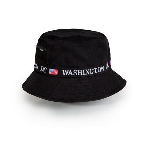 Washington DC Bucket hat (black)