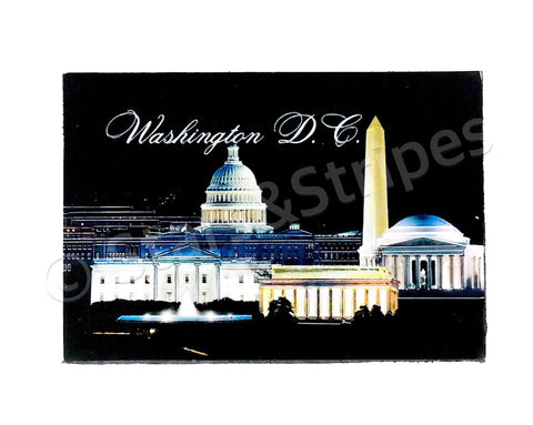 Washington DC in Night Fridge Magnet
