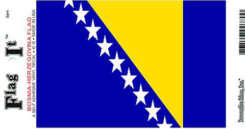 Bosnia Flag Decal Sticker
