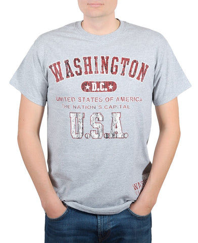 Washington DC USA Tee Shirt (grey)