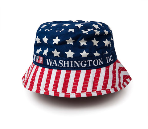 Washington DC American Flag Bucket Hat