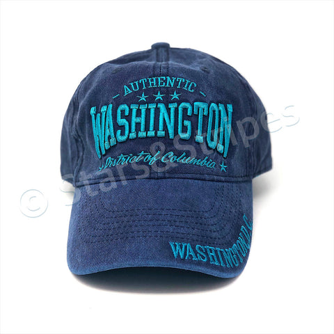 Authentic Washington DC Cap (jeans/teal)