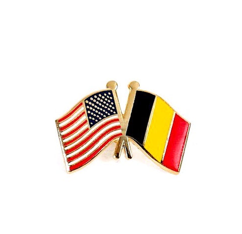 USA/Belgium Flag Lapel Pin
