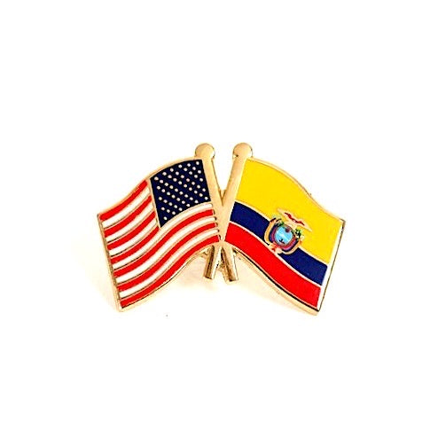 USA/ Ecuador Lapel Pin