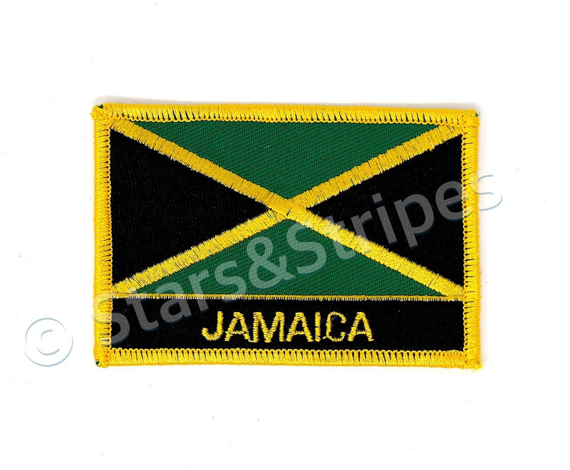Jamaica Flag Embroidered Patch